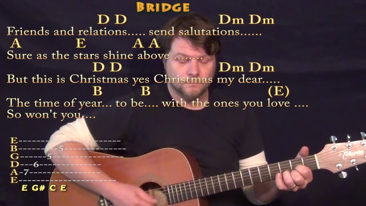 Please Come Home For Christmas (Eagles) Guitar Lesson Chord Chart ...