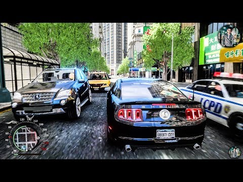 GTA IV Ultimate   Real Life Graphics Mod 2018 Gameplay + Ultimate Textures + All Cars Replaced 1440p
