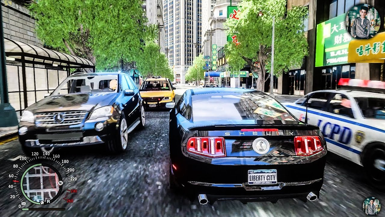 GTA IV Ultimate | Real Life Graphics mod 2018 Gameplay + Ultimate Textures  + All Cars replaced 1440p