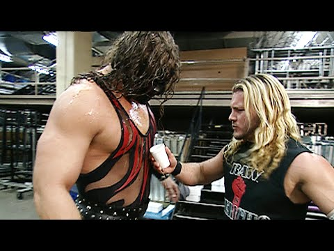 Chris Jericho spills coffee on Kane