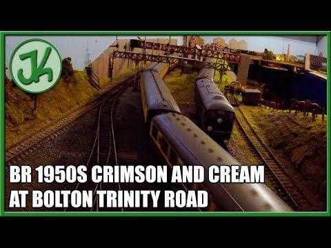 BR 1950s Crimson and Cream at Bolton Trinity Road