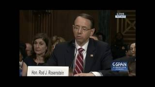 Dick Durbin and Rod Rosenstein Argue Over Sessions Recusal