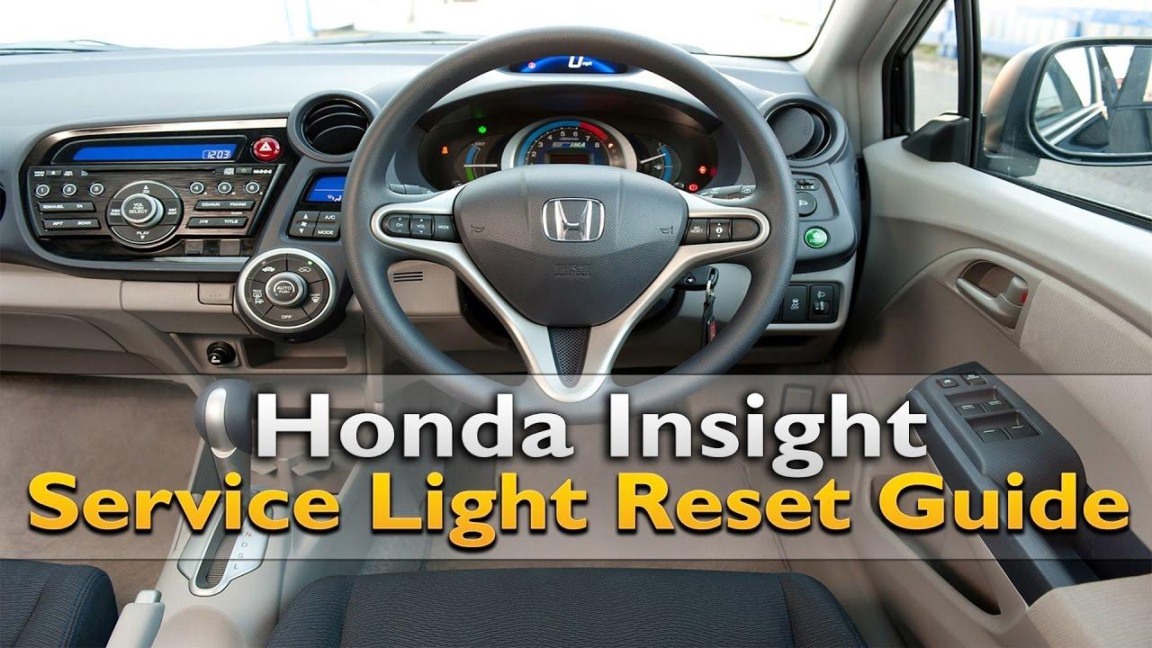 Honda Insight Service Light Reset  YouTube