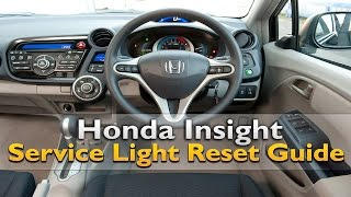 Honda Insight Service Light Reset