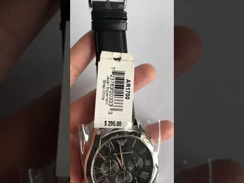Emporio Armani Men's AR1700 'Classic' Chronograph Black Leather Watch