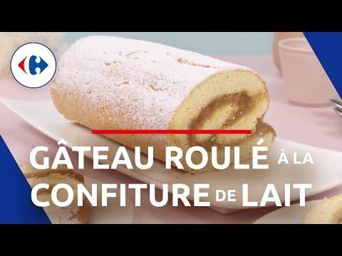 recette-facile-:-gâteau-roulé-à-la-confiture-de-lait-(tutoriel)