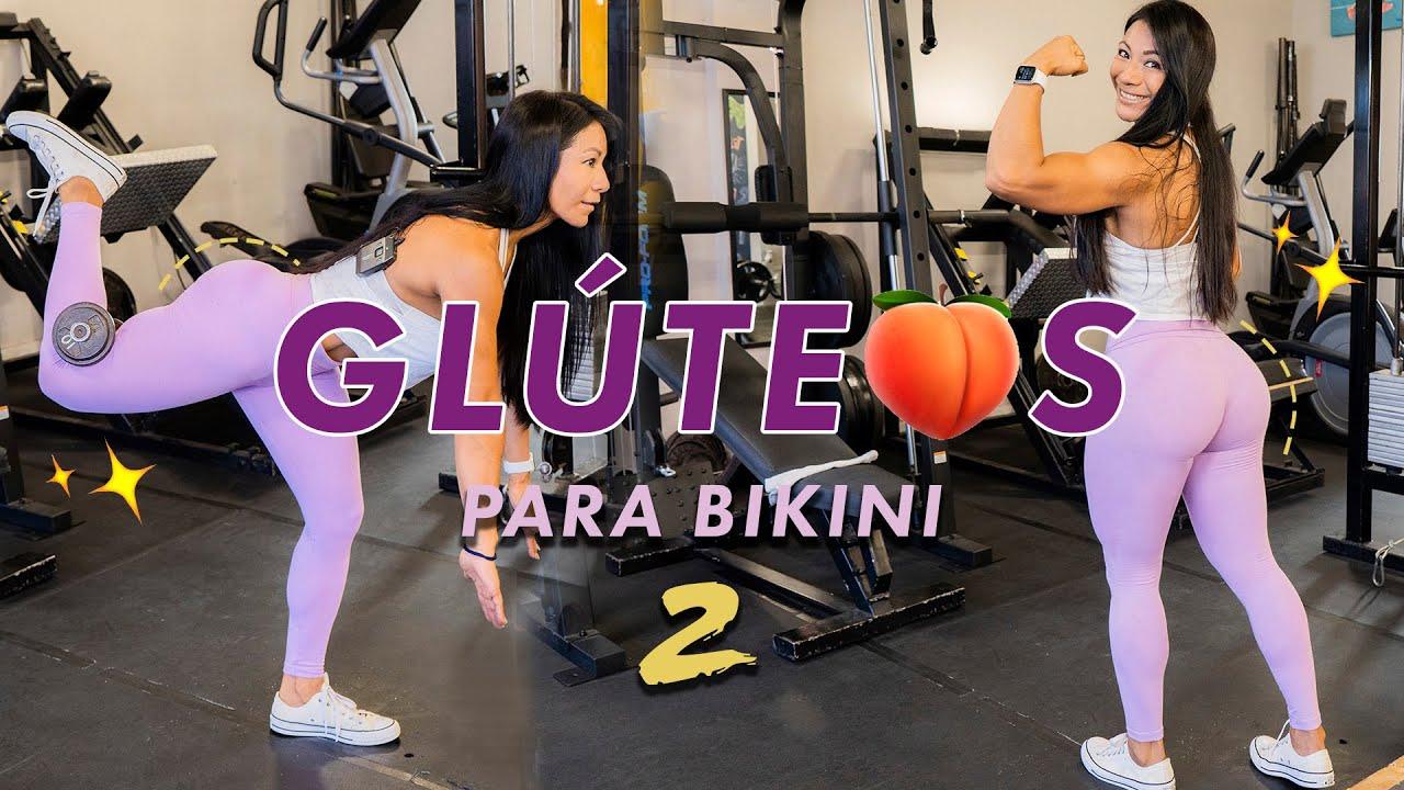 GLUTEOS PARADITOS - LLENA TODO EL BIKINI !! rutina con poco peso
