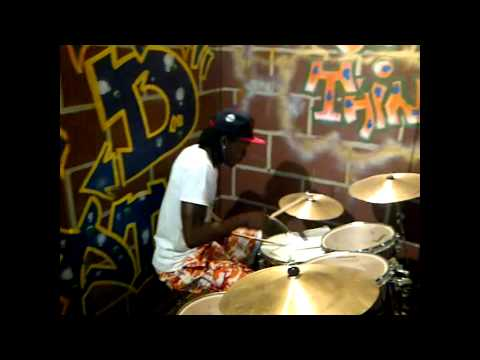 Terry G - Playing the drums to his 'Nonsense Song' [Video]