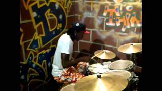 Terry G - Playing the drums to his