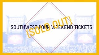SW4 2014 weekend tickets SOLD OUT! Single day tickets only remain...