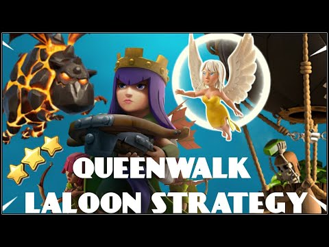 QUEENWALK LALOON: TH9 WAR ATTACK STRATEGY 2019!! - CLASH OF CLANS