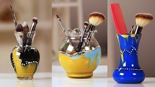 Diy Makeup Brush Holder Tutorial | Diy Beauty | Beauty How To