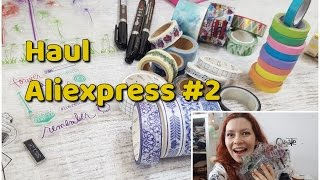 Zakupy z Aliexpress haul 2 (washi tape, kreatywne, stemple)