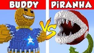 KICK THE BUDDY vs PiRANHA PLANT - PvZ vs Minecraft vs Smash