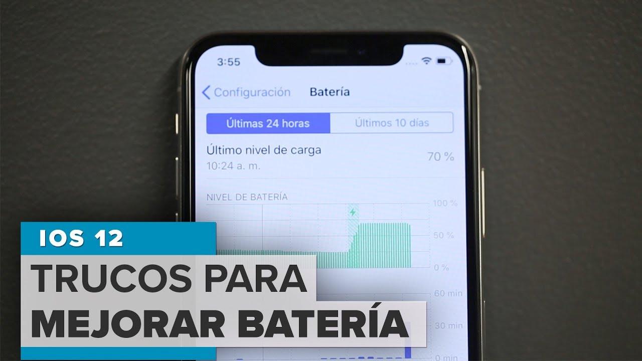 b4f6c8821b9 iOS 12: Cómo mejorar la batería de tu iPhone - YouTube