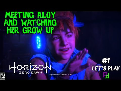 Horizon Zero Dawn - Let's Play #1 - Meeting Aloy and Watching her Grow up