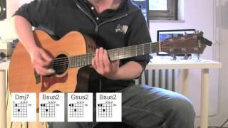 Everlong - Acoustic Guitar, chords, original vocals, Foo Fighters