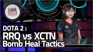 DOTA 2 :  RRQ (Indonesia) vs XctN (Philippine) - Bomb Heals Tactic - By Lady Caster