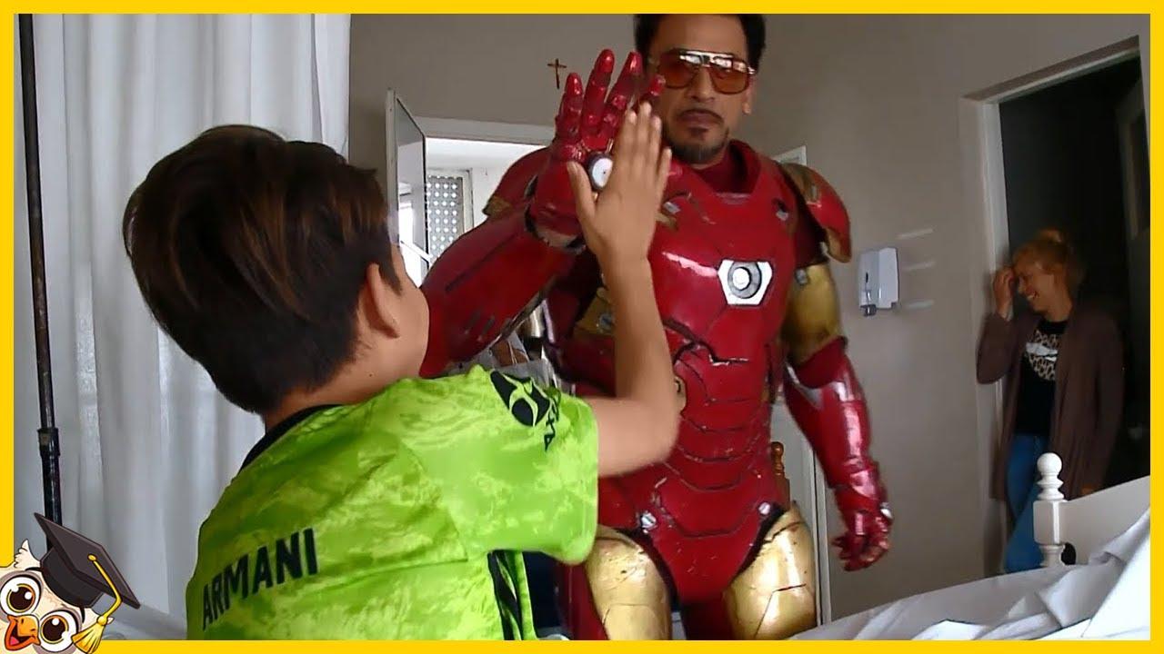 10 Enfants qui ont rencontré leurs super-héros préférés dans la vraie vie