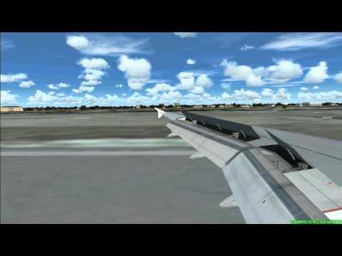 Air France A318 Landing At Biarritz (Fs2004)