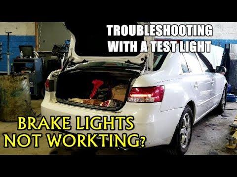Brake Lights Not Working 2005-2009 Hyundai Sonata - YouTube