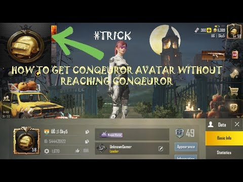 Pubg Mobile How To Get Conqueror Avatar Without Reaching Conqueror
