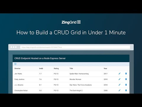 How to Build a CRUD Grid in Under 60 Seconds with ZingGrid