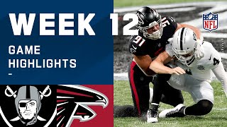 Raiders vs. Falcons Week 12 Highlights | NFL 2020