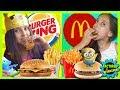 🍔 ¡¡McDONALD's vs. BURGER KING A CIEGAS!! 🍟 ¿¿Podrá NOA distinguir los dos MENÚS infantiles??