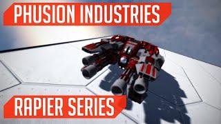 Phusion Industries (Ship Build): Rapier Series! (Space Engineers)
