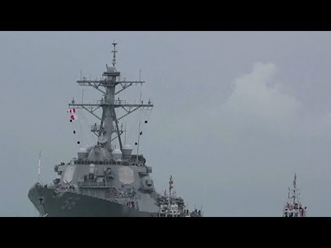 USS John McCain collision Navy finds remains of some missing sailors