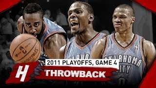 The Game OKC BIG 3 Kevin Durant, Westbrook & Harden STEPPED UP vs Grizzlies | Game 4, 2011 Playoffs