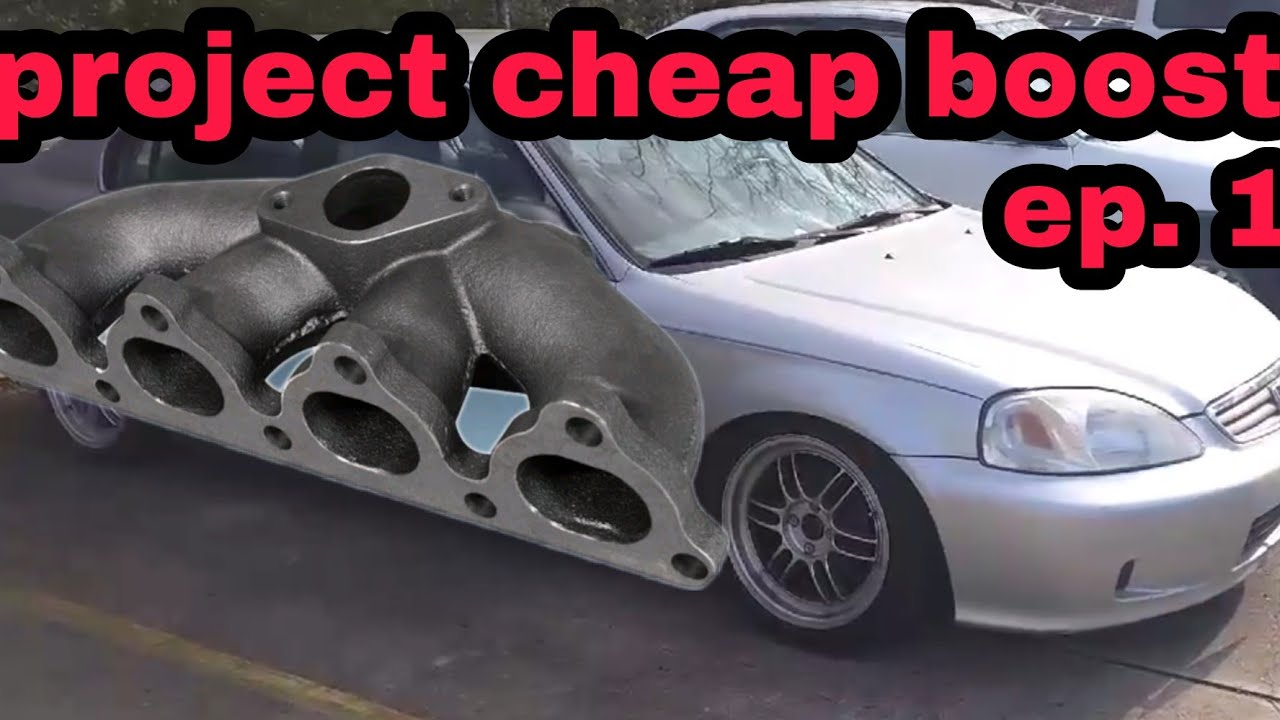 Project Cheapest Turbo Build EVER! ek Civic D16 ep  1 (eBay turbo manifold)