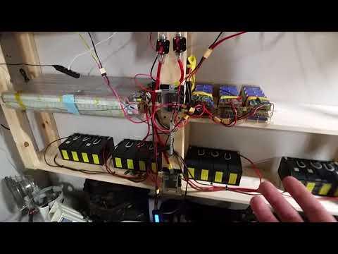 DIY 13kw 18650 Mobius Tesla Powerwall  2.5kw Solar Grid Tie limiter with Battey Backup