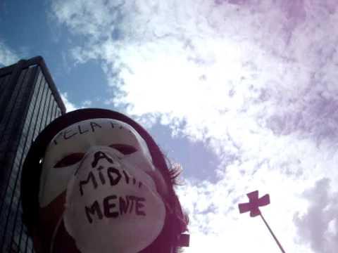 WNBR 2009 (Pedalada Pelada) - parte 2 - repressão policial