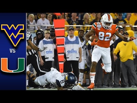 Miami vs. West Virginia Russell Athletic Bowl Highlights (2016)