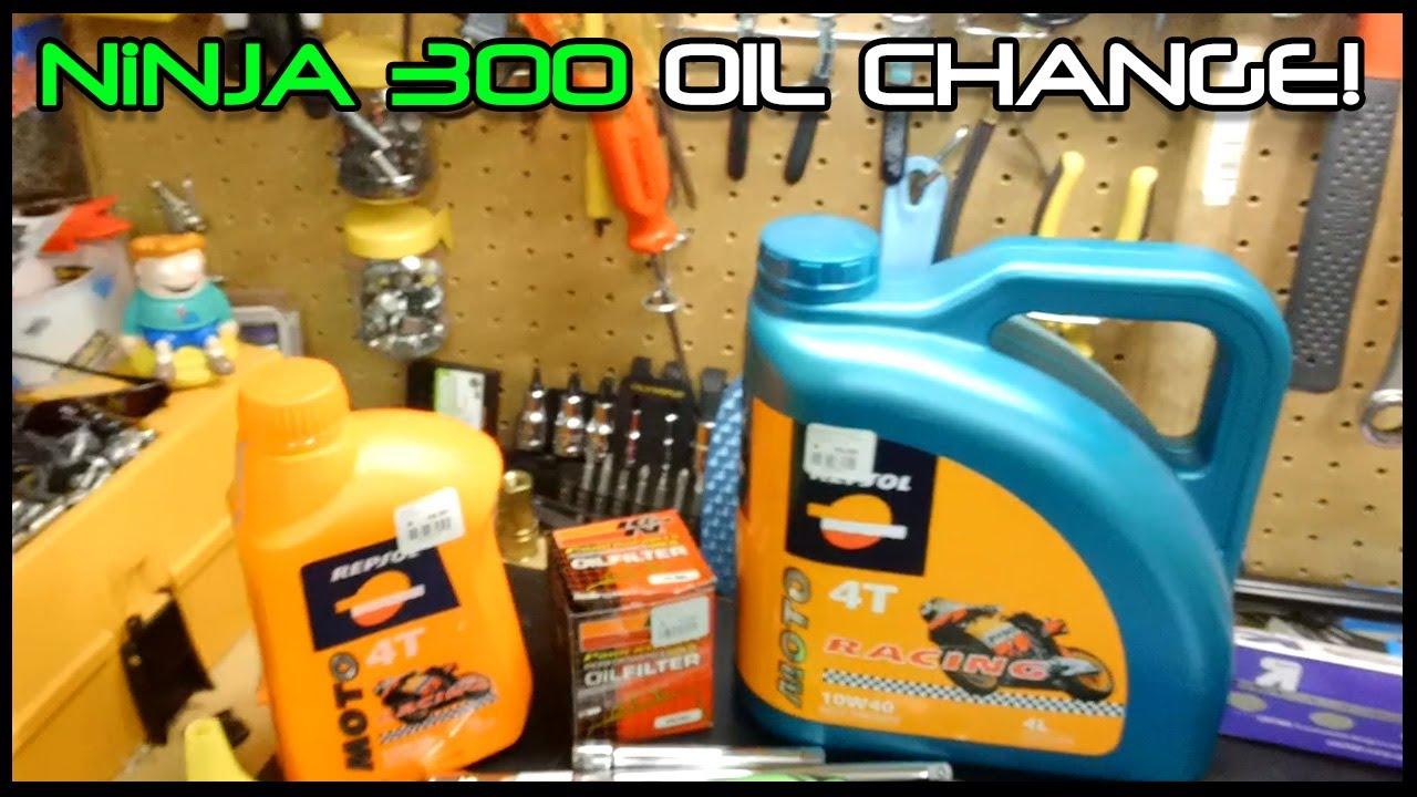 Ninja 300 Oil Change Youtube