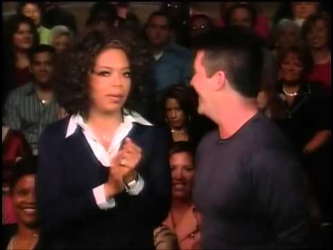 2004 SIMON COWELL'S  AND OPRAH LAUNCH IL DIVO'S FIRST APPEARANCE ON THE OPRAH SHOW