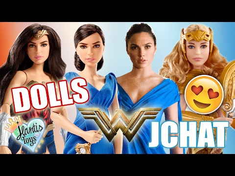 NEW WONDER WOMAN TOYS & DOLLS from Mattel REACTION - JCHAT