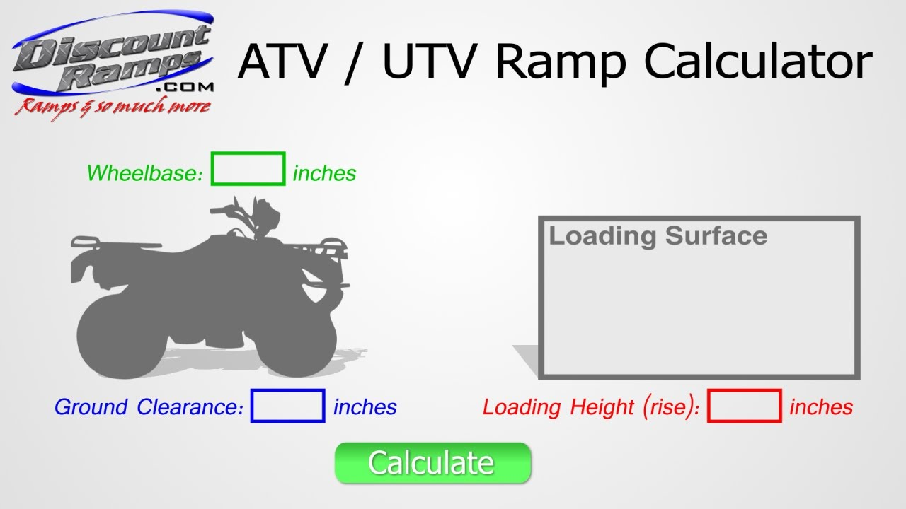 using the atv utv ramp calculator youtube