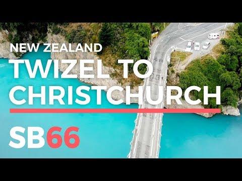 New Zealand Travel Vlog: Twizel to Christchurch Roadtrip [AMAZING DRONE FOOTAGE] SB66