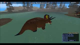 Roblox| Era of Terror| Realism| Triceratops gameplay compilation