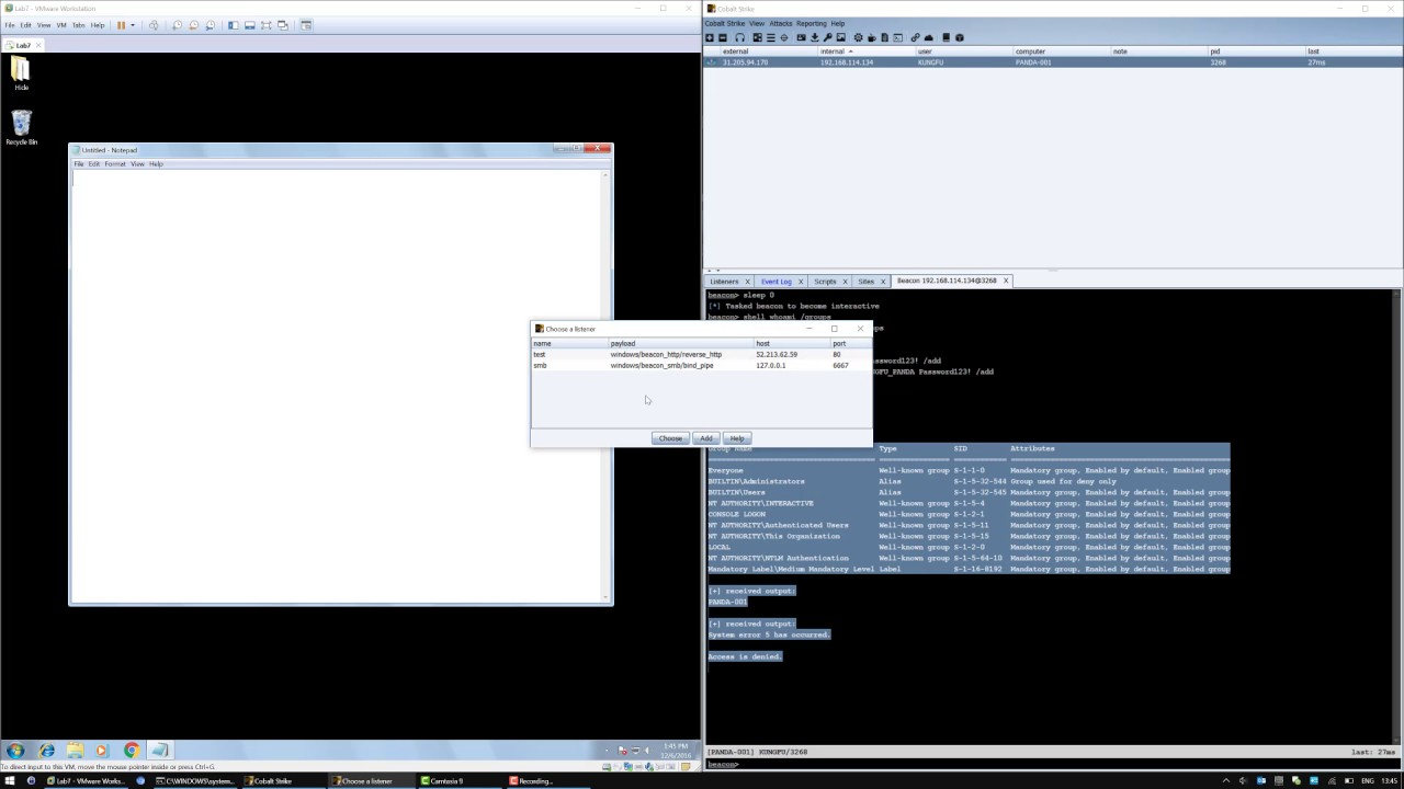 Eventvwr File-less UAC Bypass CNA – MDSec