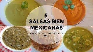 5 Salsas Mexicanas | Salsas Taqueras | Erika Blop