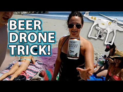 Delivering BEER to Girls on Beach Magic Prank!