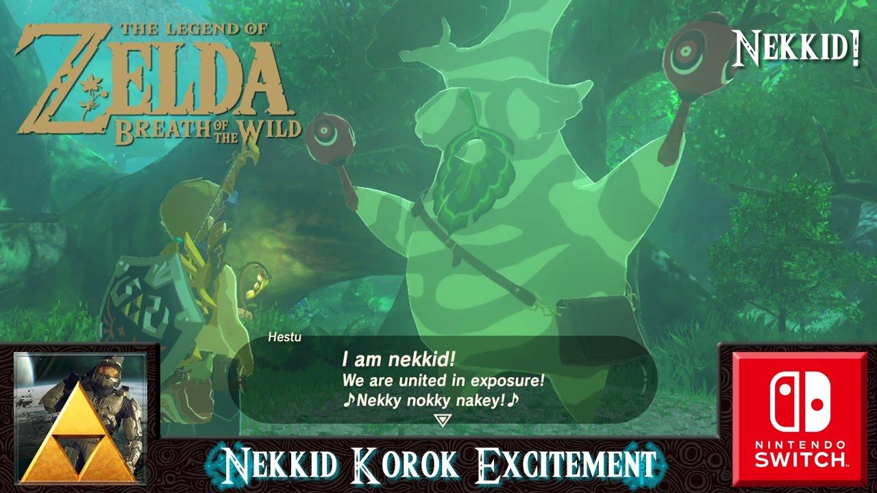 The Legend of Zelda: Breath of the Wild (Nekkid Korok Excitement ...