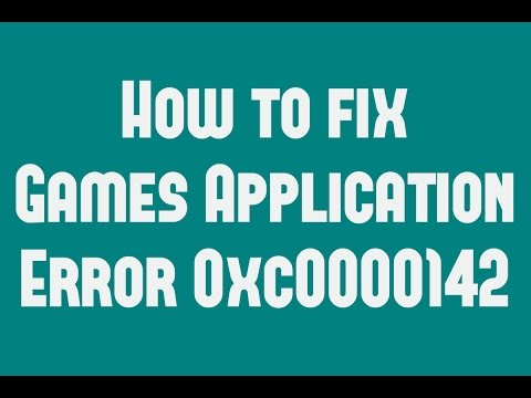 How to fix Games Application Error 0xc0000142