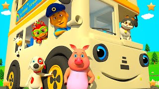 White Wheels On The Bus | Kindergarten Nursery Rhymes & Songs for Kids