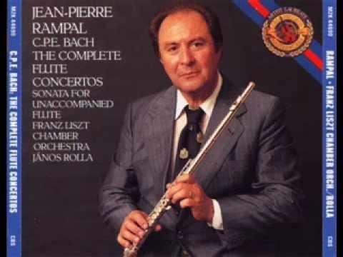 C.P.E. Bach ~ Solo Flute Concerto in A minor H 56 (Jean Pierre Rampal)