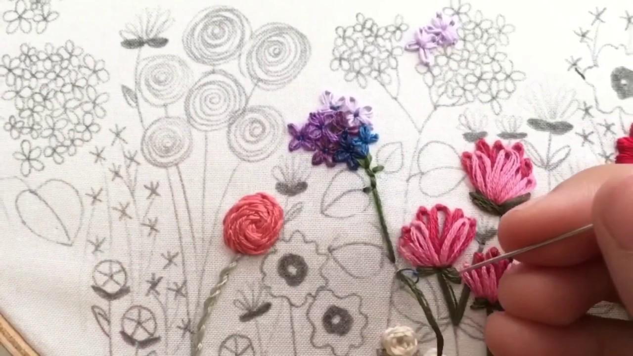 Lazy Daisy Flower Hand Embroidery Tutorial Youtube